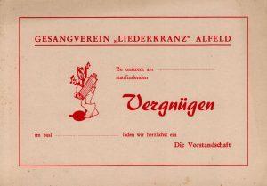 Historische Einladung
